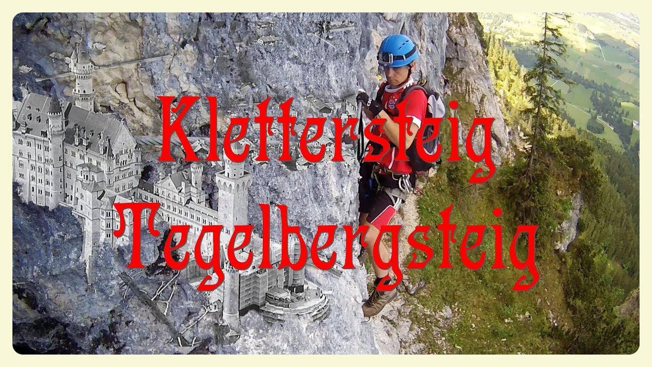 Klettersteigset Globetrotter : Tegelbergsteig klettersteig youtube