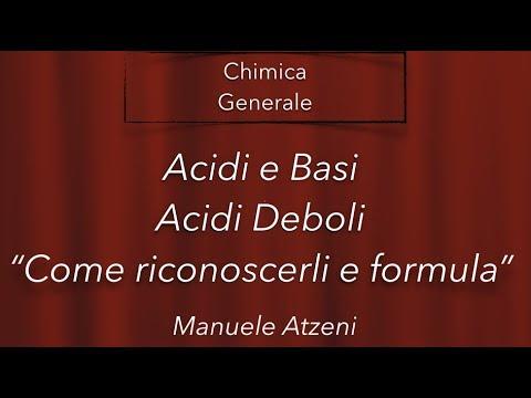 Chimica Generale (Acido