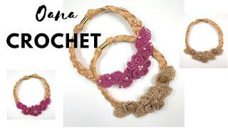 Blossom Necklace crochet tutorial by Oana