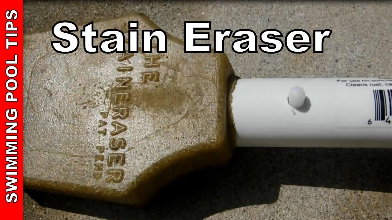 Stain Eraser 11001 The Pool Stain Eraser Youtube