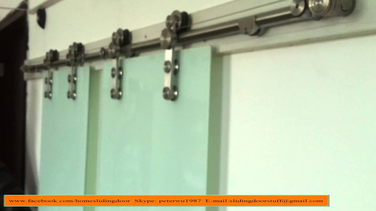 Top Hung Symmetric Synchronous Barn Door Hardware Sliding System