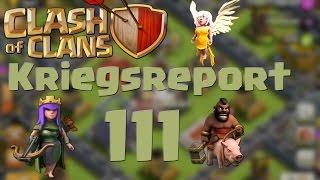 "COC [Kriegsreport #111] ""RH9 Queenwalk + Hogs"" | Let´s Play Clash of Clans [DEUTSCH]"