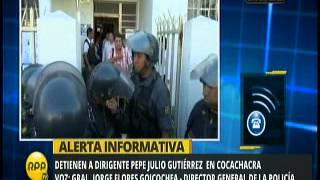Detención Pepe Julio Gutiérrez