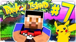 SMALLEST PIKACHU EVER! - PIXELMON ISLAND SMP #7 (Pokemon Go Minecraft Mod)