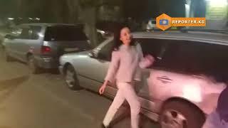 ДТП с участием пьяной девушки в Бишкеке