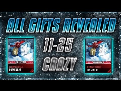 All Gifts Revealed!!! Ultimate Freeze! Madden Mobile 17 - YouTube