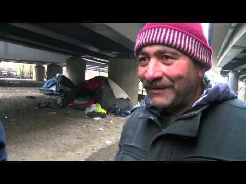 "The ""Fortress"" camp for Romanians living rough under the North Circular in London"