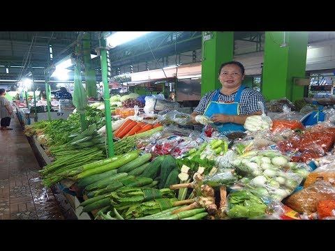 Amazing Fresh vegetable market in Thai 2017