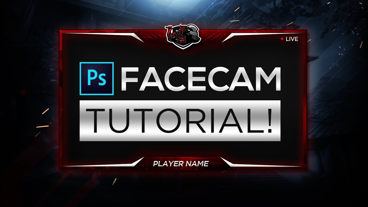 how to make a facecam border in photoshop cc cs6 2019 overlay
