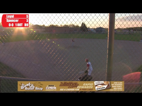 Spencer vs Loyal Baseball