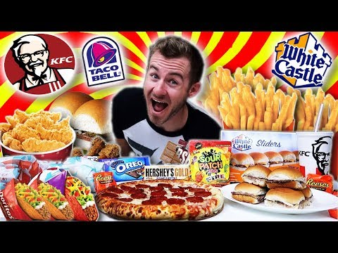 THE 2018 FAST FOOD W.O.W CHALLENGE! (7,000+ CALORIES)