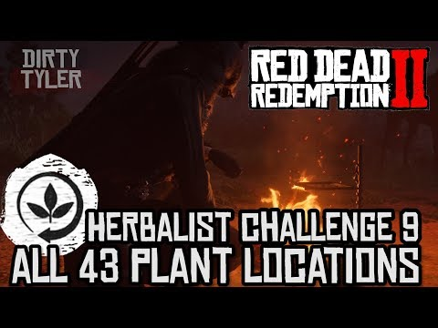 RDR2 All Plant Locations - Herbalist Challenge 9 - Red Dead Redemption 2 Guide
