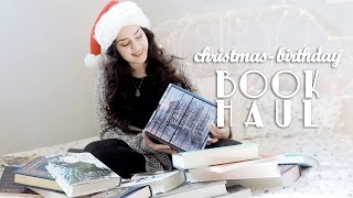 HUGE Christmas/Birthday Book Haul! | 2016