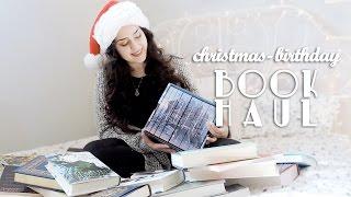 HUGE Christmas/Birthday Book Haul! | 2016
