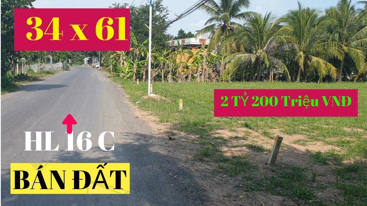 Bán 2000 M2 Đất Nền Mặt Tiền 34 M Đường Huyện 16C Xã Long Vĩnh, Gò Công Tây, Tiền Giang (BĐS 23)