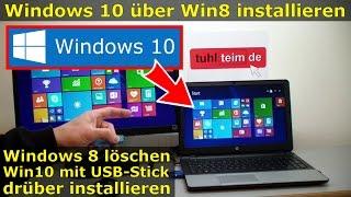 Windows 8 löschen + Windows 10 installieren mit Win8 Key aktivieren | Platte formatieren