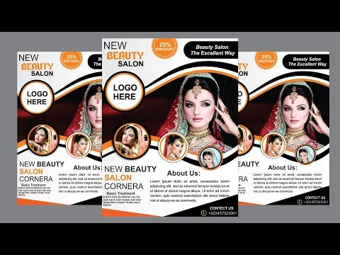 beauty-salon-flex-design-in-coreldraw-x7-#2-|-creating-beauty-parlour-flyer-design