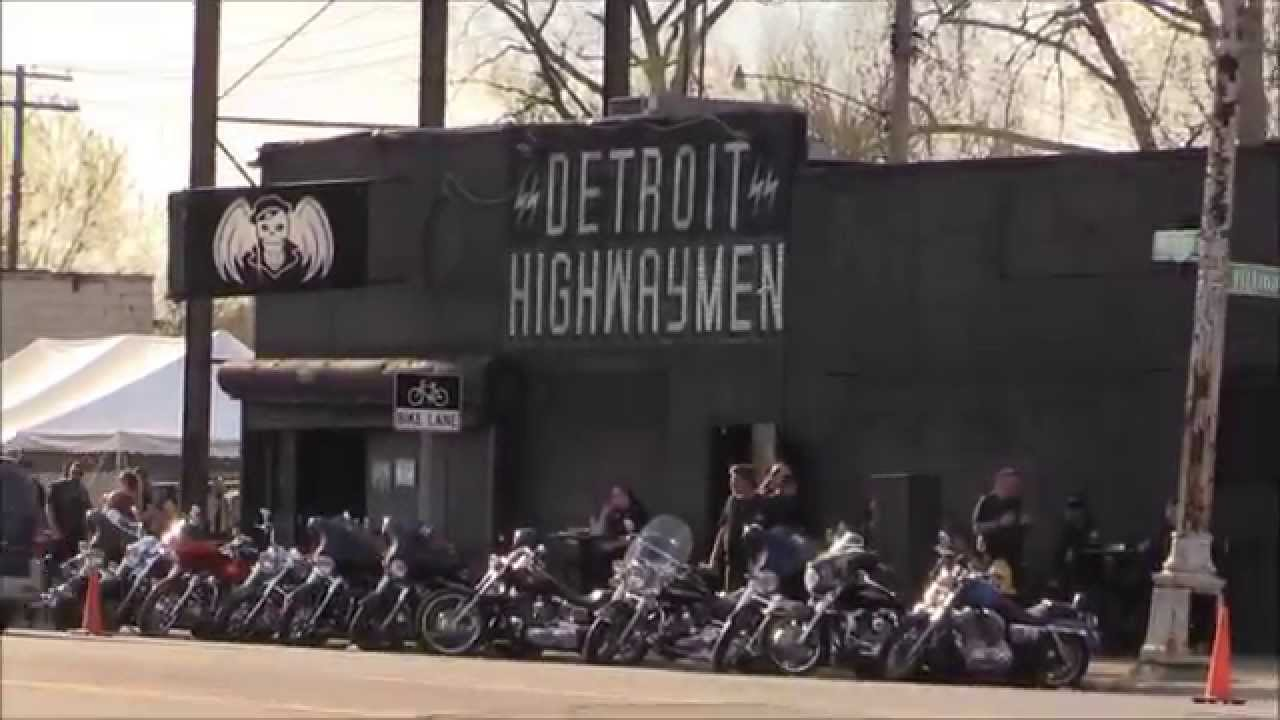 Motorcycle Club Celebrates Spring In Detroit