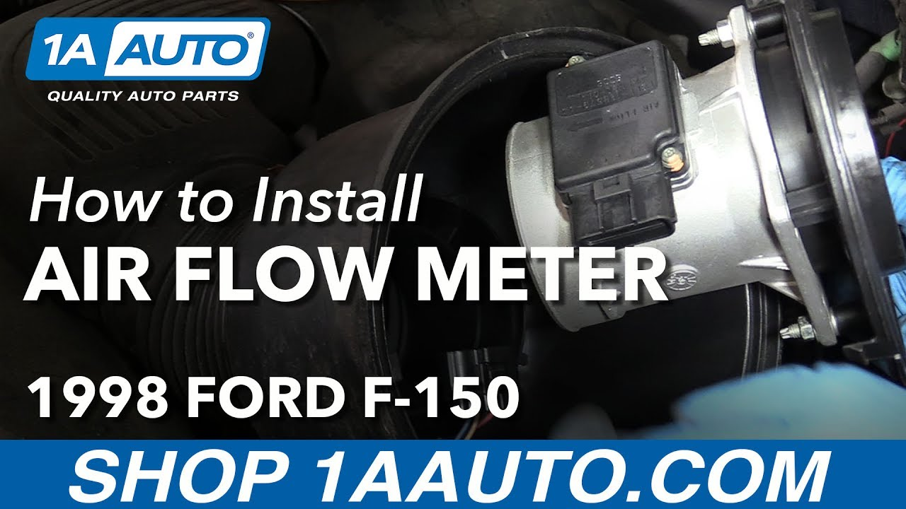 how to replace mass air flow sensor meter 97 98 ford f 150 [ 1280 x 720 Pixel ]