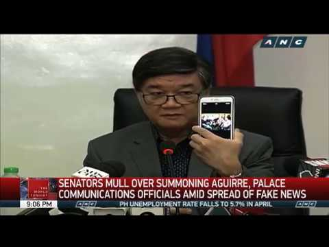 Aguirre orders probe into alleged destabilization plot by opposition solons