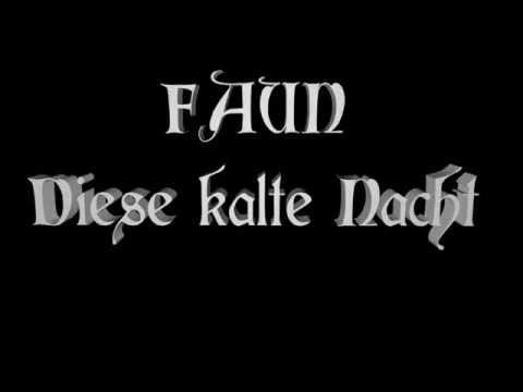 Faun - Diese kalte Nacht (Von den Elben 2012) [lyrics on screen]