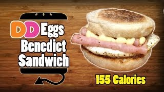 Dunkin Donuts Eggs Benedict Sandwich Recipe Remake - Hellthyjunkfood