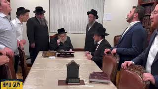 YESHIVA ATERES SHIMON visiting the Rachmastrivka Rebbe of New York