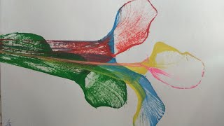 Thread Painting thread art easy drawing for kids tutorial