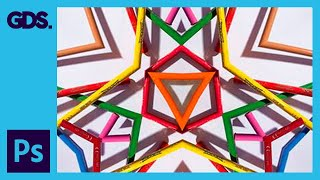 Kaleidoscope style images in Adobe Photoshop