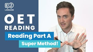E2 OET 2.0 | Reading Part A with Jay