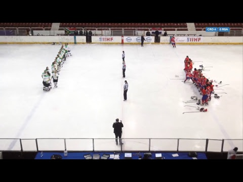 2018 IIHF ICE HOCKEY WOMEN'S WORLD CHAMPIONSHIP: Croatia - Republic of South Africa