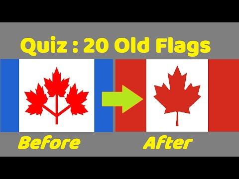 Old Flags Quiz (Part 1) : Can You Name The Countries From Their Old Flags?
