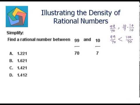 Illustrating The Density Of Rational Numbers Youtube