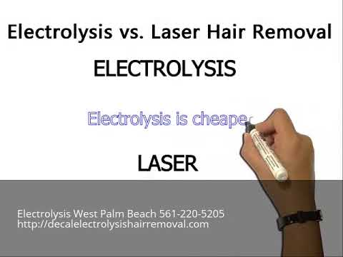 Electrolysis West Palm Beach 561-220-5205 Electrolysis vs Laser Hair Removal