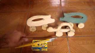 Brinquedos De Madeira Tartaruga Porco Aviao Para Colorir Wooden Toys Pig Turtle Plane.mpg