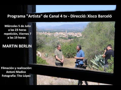 """Programa """"Artista"""" de Canal 4 tv: MARTIN BERLIN"""