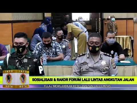 Wali Kota Gorontalo Membuka Kegiatan Sosialisasi & Rakor Forum Lalu Lintas dan Angkutan