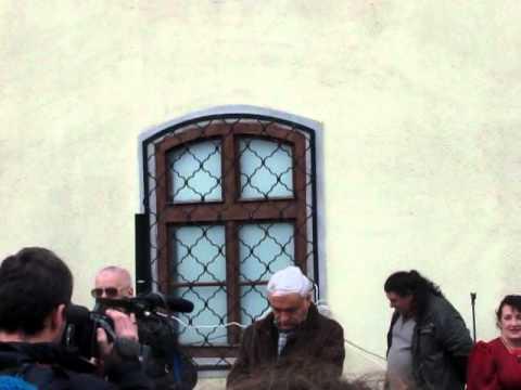 Piaţa Sfatului_Inaugurare Ceas Casa Sfatului-Aristotel Căncescu (16Oct2010)