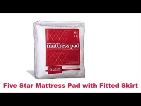 Five Star Mattress Pad with Fitted Skirt – Hypoallergenic Mattress Cover