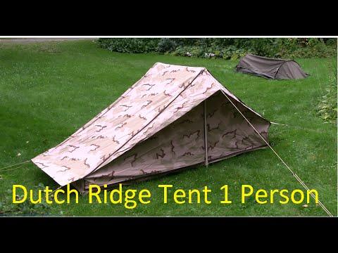 Dutch Army One Person Ridge Tent & Dutch Army One Person Ridge Tent - YouTube