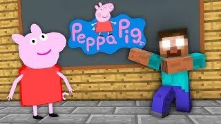 Monster School : Peppa Pig Challenge - Minecraft Animation