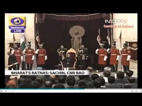 sachin receiving Bharat Ratna