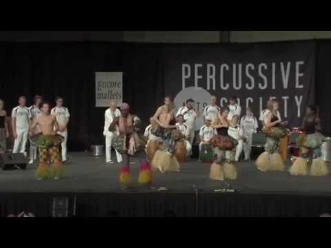 Lawrence University Percussion Ensemble (Ghanaian, Brazilian, Afro Cuban groups) at the 2014 PASIC convention.