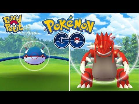 PRIMERAS INCURSIONES EN BUSCA DE KYOGRE Y GROUDON SHINY! [Pokémon GO-davidpetit]