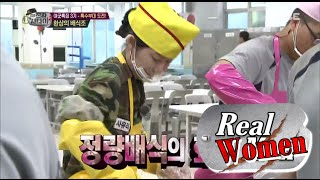 [Real men] 진짜 사나이 - Sayuri & Han Groo, distribute food to soldier 20150906