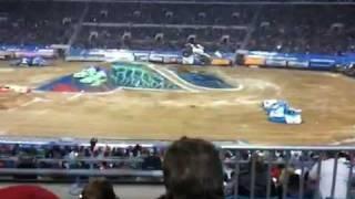 Nitro Circus monster truck BACKFLIP!