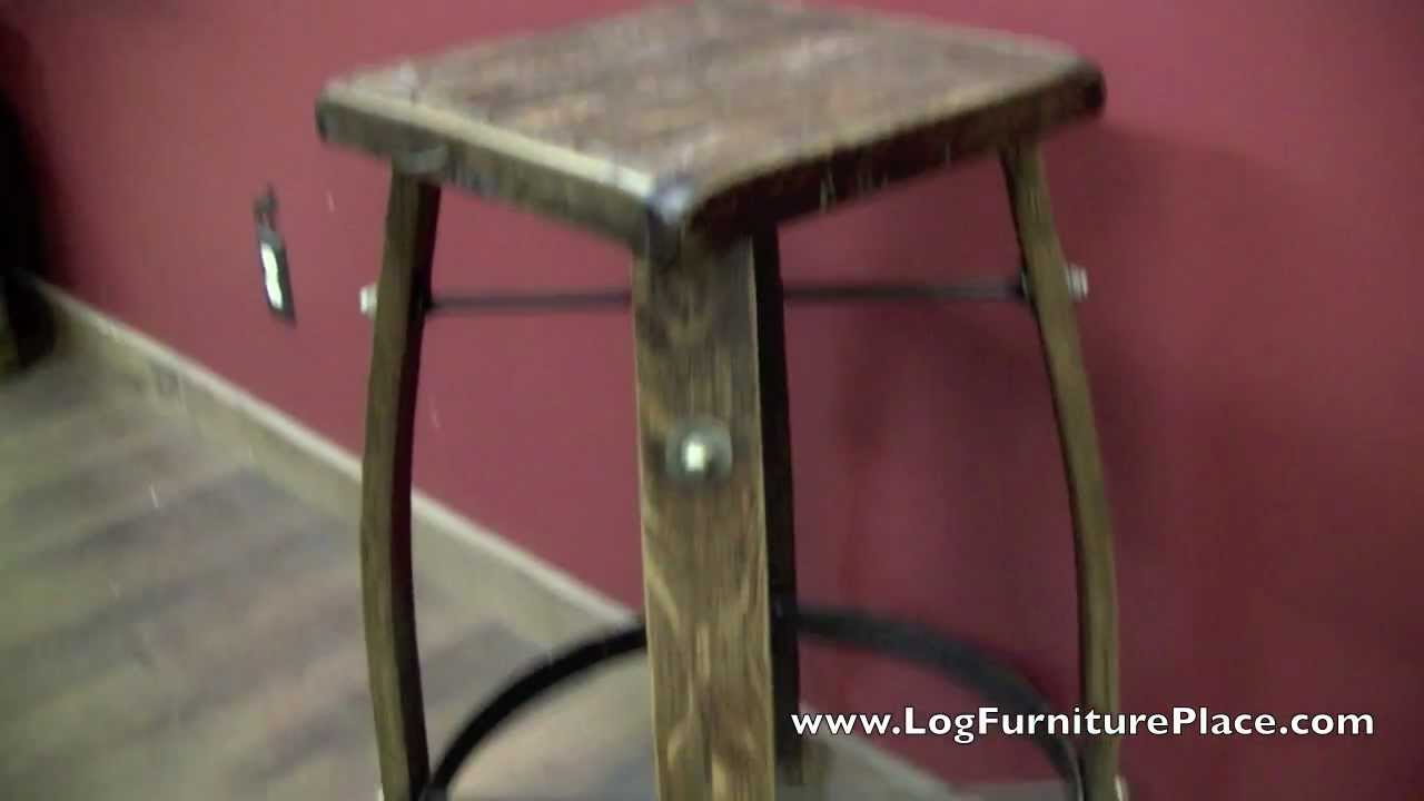 Whiskey Barrel Stave Bar Stool from LogFurniturePlace.com & Whiskey Barrel Stave Bar Stool from LogFurniturePlace.com - YouTube islam-shia.org