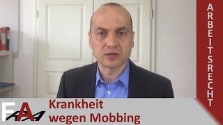 Krankheit durch Mobbing - was tun? Fachanwalt Arbeitsrecht