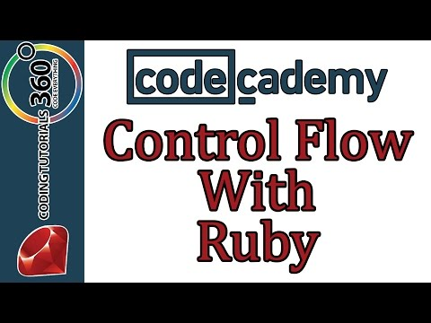 Learn Ruby with Codecademy: Control Flow with Ruby: Control Flow with  Ruby 3/19