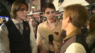 James and Oliver Phelps on the Red Carpet at Warner Bros. Home Entertainment Celebration